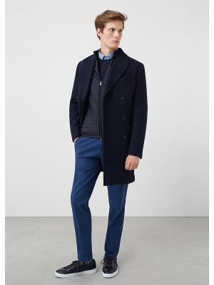 Пальто - ROMERO MANGO MAN. Цвет: темно-синий
