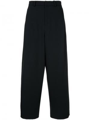 Широкие брюки с завышенной талией En Route. Цвет: чёрный