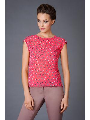 Блуза Арт-Деко. Цвет: розовый, белый, голубой
