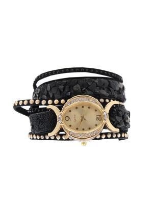 Браслет-часы Olere. Цвет: черный, золотистый