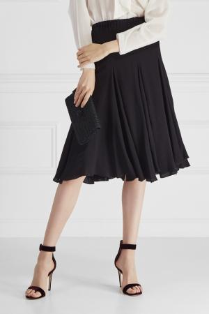 Однотонная юбка Cyrille Gassiline. Цвет: черный