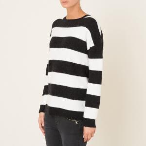 Пуловер в полоску THE KOOPLES SPORT. Цвет: черный