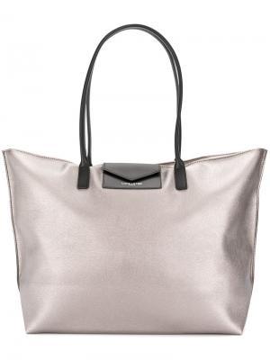 Классическая сумка-тоут Lancaster. Цвет: металлический