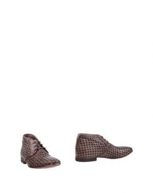 Полусапоги и высокие ботинки JP/DAVID. Цвет: голубиный серый
