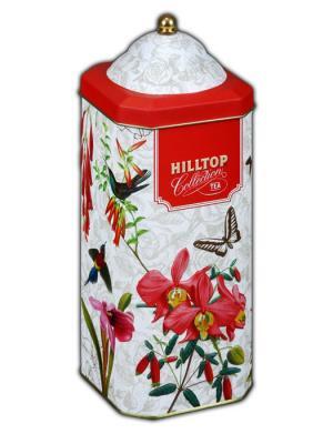 Чай Hilltop Эрл Грей 125г., высокая 8-гран банка Орхидеи и розы. Цвет: черный
