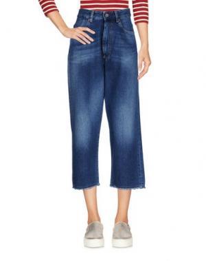 Джинсовые брюки-капри PENCE. Цвет: синий