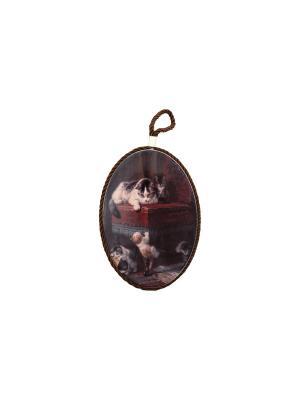 Подставка под горячее Семейка котиков Elan Gallery. Цвет: коричневый