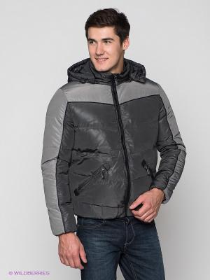 Куртка ALF SPORT. Цвет: темно-серый, серый