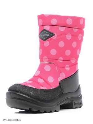 Полусапожки KUOMA. Цвет: розовый, бледно-розовый