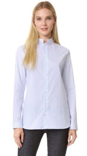 Рубашка Sarah Officier Collar Marie Marot. Цвет: синий/белый в полоску