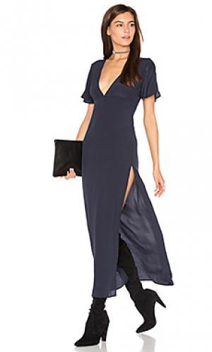 Макси платье Lisakai. Цвет: синий