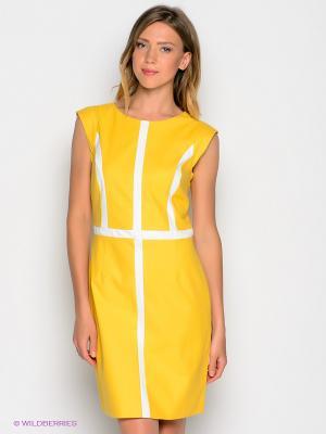 Платье GANT. Цвет: желтый