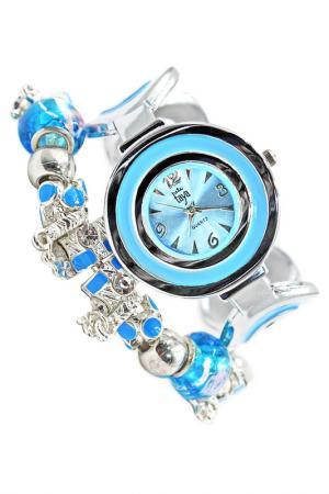 Часы наручные Taya. Цвет: серебристый, синий