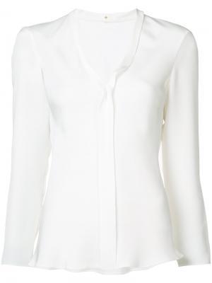 Блузка с открытым окантовочным швом Peter Cohen. Цвет: белый