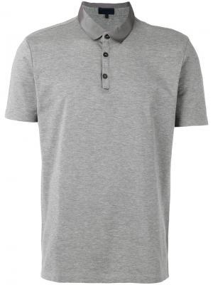 Рубашка-поло с атласным воротником Lanvin. Цвет: серый