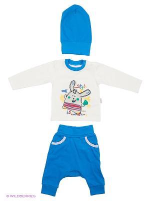 Костюм для малышей WO&GO. Цвет: белый, синий