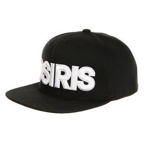 Бейсболка с прямым козырьком  Snap Back Hat Nyc Chr Osiris. Цвет: черный