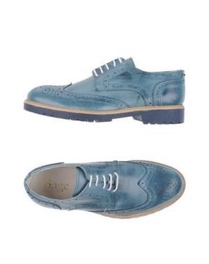 Обувь на шнурках BAGE. Цвет: грифельно-синий