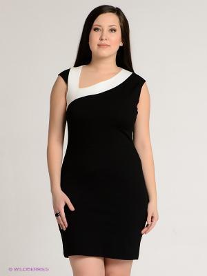 Платье SISTE'S. Цвет: черный, молочный