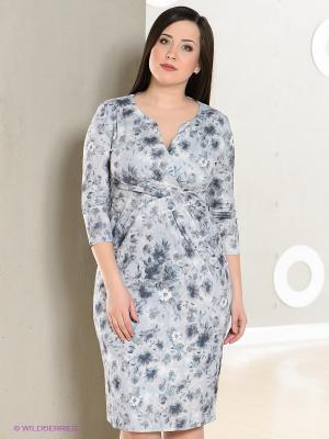 Платье LE MONIQUE. Цвет: серо-голубой