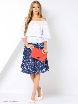 Комплект одежды Kristina. Цвет: синий, белый