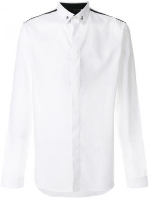 Рубашка с черепами на воротнике Philipp Plein. Цвет: белый