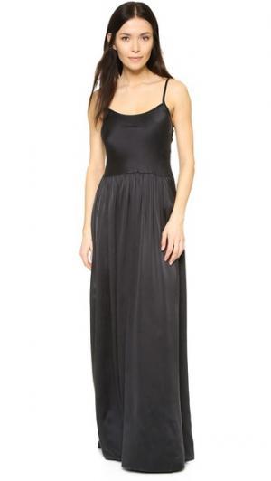 Платье «в пол» Essentials Flannel Australia. Цвет: голубой