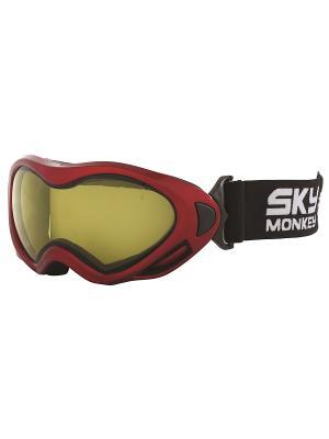 Маска сноубордическая детская Sky Monkey JR10 YL. Цвет: красный, черный