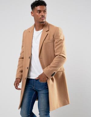 ASOS Шерстяное пальто. Цвет: рыжий