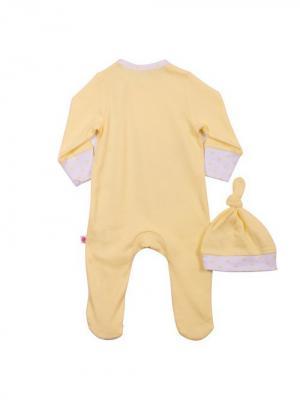 Комплект нательный для малыша Free Age. Цвет: желтый