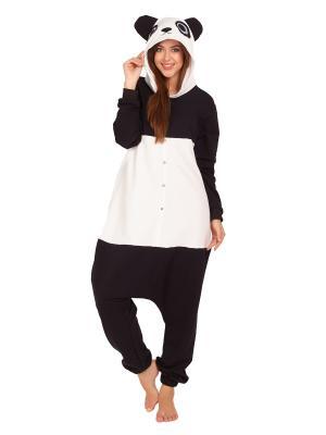 Пижама хлопковая ПАНДА HandyWear. Цвет: черный,белый