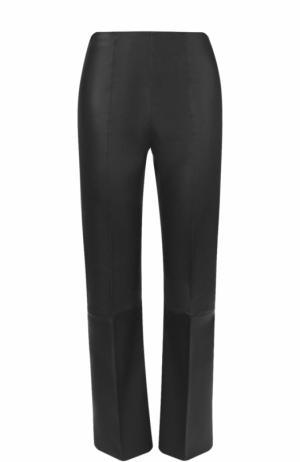 Укороченные кожаные брюки со стрелками By Malene Birger. Цвет: черный