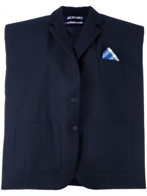 Структурированный объемный пиджак Jacquemus. Цвет: синий