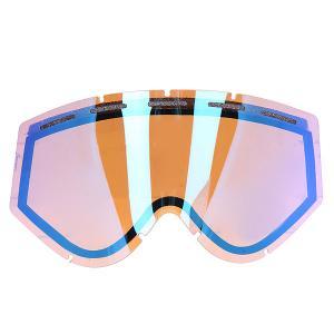 Линза для маски  Kaleidoscope Lens Blue Mirror Ashbury. Цвет: коричневый,синий