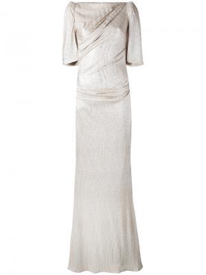Вечернее платье Lobata Talbot Runhof. Цвет: телесный