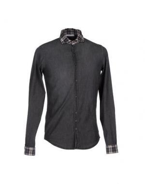 Джинсовая рубашка AGLINI. Цвет: черный