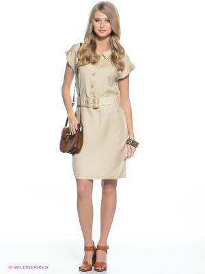 Платье Finn Flare. Цвет: светло-бежевый