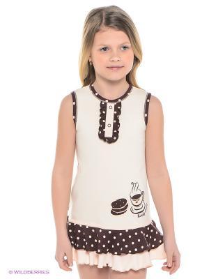Платье Lucky Child. Цвет: коричневый, персиковый