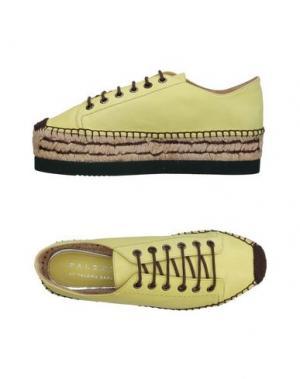 Низкие кеды и кроссовки PALOMITAS by PALOMA BARCELÓ. Цвет: желтый