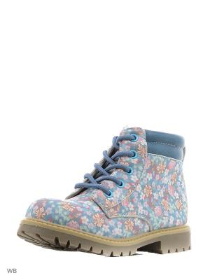 Ботинки Milton. Цвет: голубой