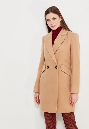 Пальто Miss Selfridge. Цвет: бежевый