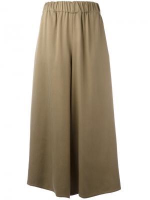 Укороченные брюки-палаццо Dusan. Цвет: телесный
