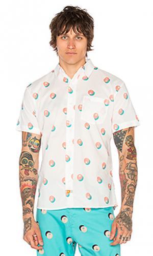 Рубашка на пуговицах palmero Ambsn. Цвет: белый