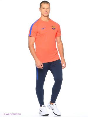 Футболка FCB M NK DRY TOP SS SQD Nike. Цвет: красный