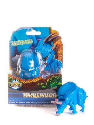 EggStars Яйцо-трансформер ТРИЦЕРАТОПС. Цвет: синий