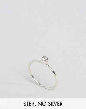 Fashionology Серебряное кольцо с прозрачным кварцем. Цвет: серебряный