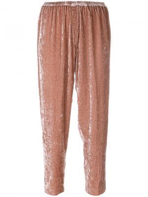 Бархатные брюки Forte. Цвет: розовый и фиолетовый