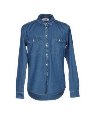 Джинсовая рубашка MSGM. Цвет: синий