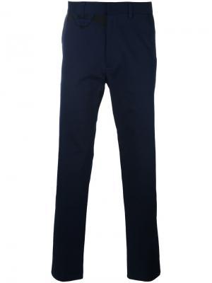 Прямые брюки Qasimi. Цвет: синий