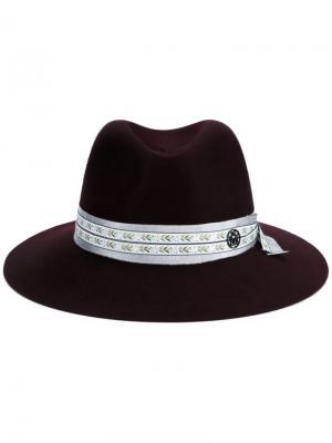 Шляпа Henrietta Maison Michel. Цвет: красный
